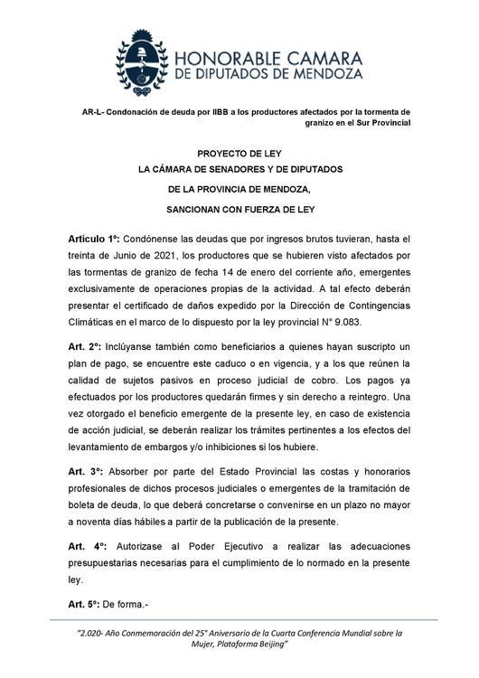 AR-L-Condonación de deudas por IIBB a los productores afectados por la tormenta de granizo en el sur provincial (1)_00004
