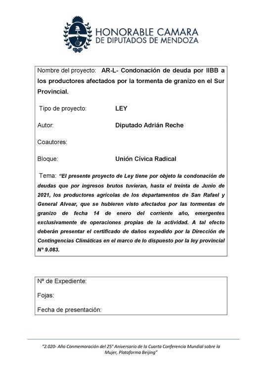AR-L-Condonación de deudas por IIBB a los productores afectados por la tormenta de granizo en el sur provincial (1)_00001